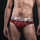 Hottie Menswear Original Briefs in Venetian Red. Get yours now!  Model: @jchm3  HottieMenswear.com