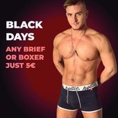 Black Days 2020.  Any Brief or Boxer just 5€! Get yours now - only until stock lasts!  #blackday #blackfriday #blackfriday2020 #boxer #briefs #sale #hottie #menswear